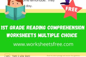 1st grade reading comprehension worksheets multiple choice