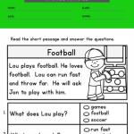 1st grade reading comprehension worksheets multiple choice 2