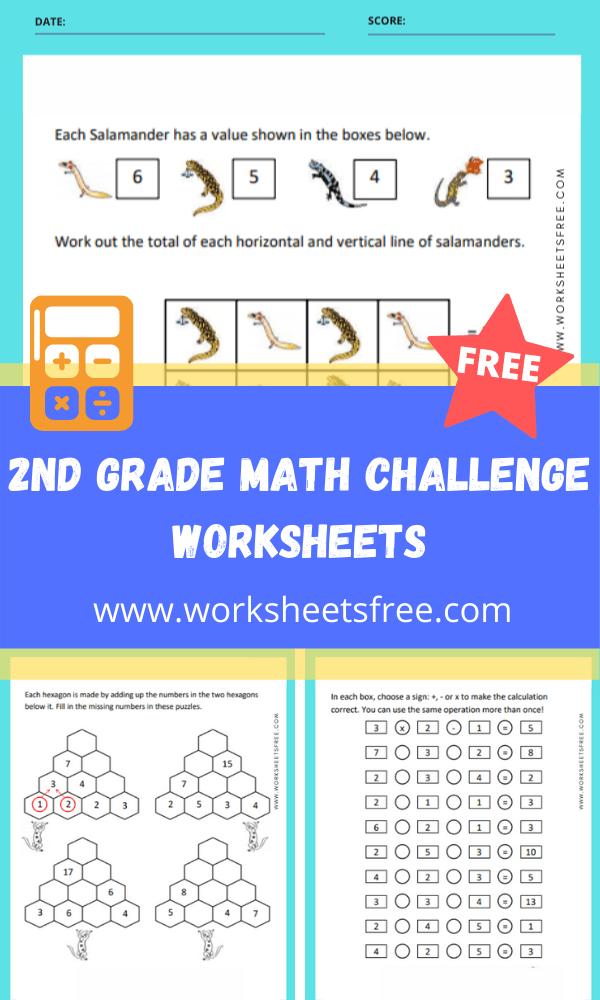 2nd Grade Math Challenge Worksheets