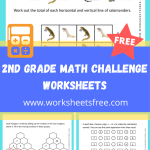2nd Grade Math Challenge Worksheets