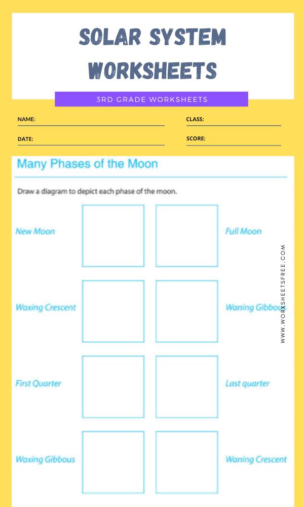 3rd Grade Solar System Worksheets 11