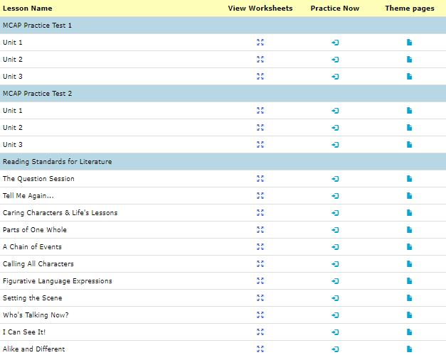 3rd grade ela test prep worksheets 1