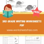 3rd grade writing worksheets pdf