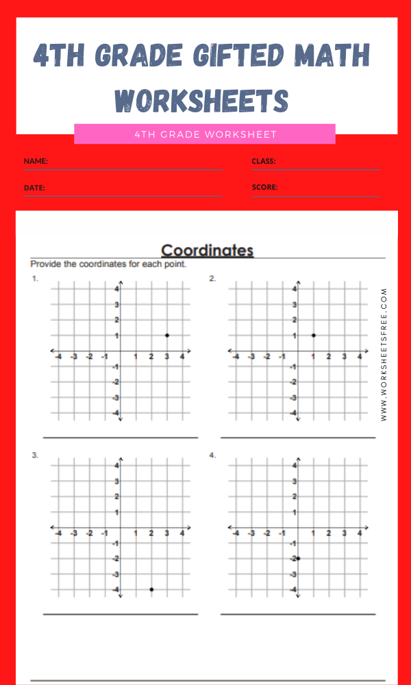 4th grade gifted math worksheets 3