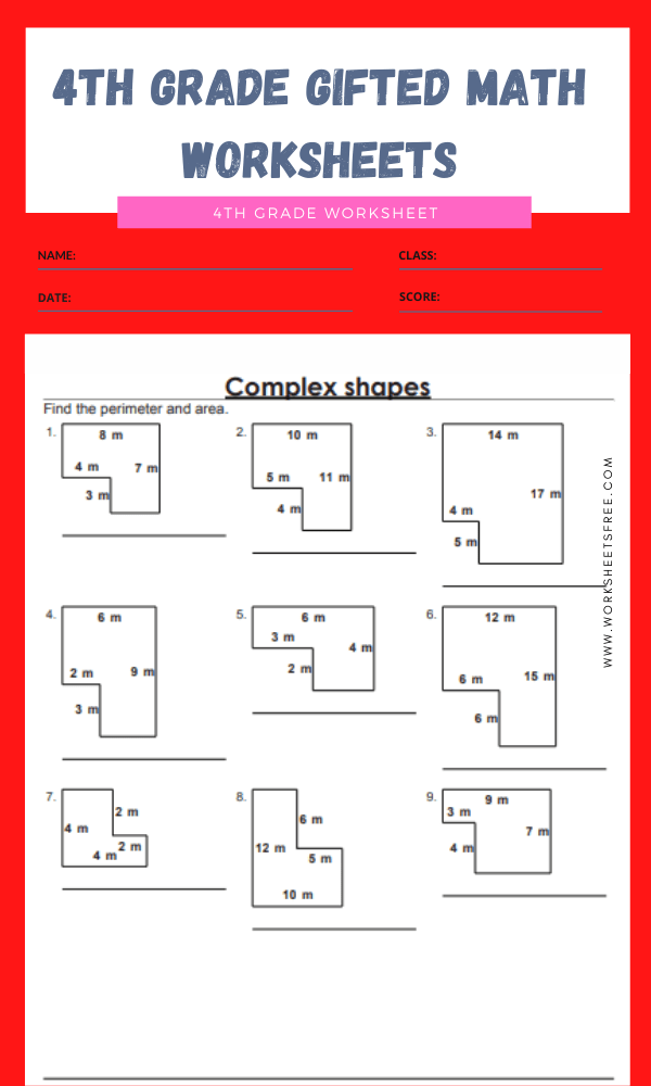 4th grade gifted math worksheets 5