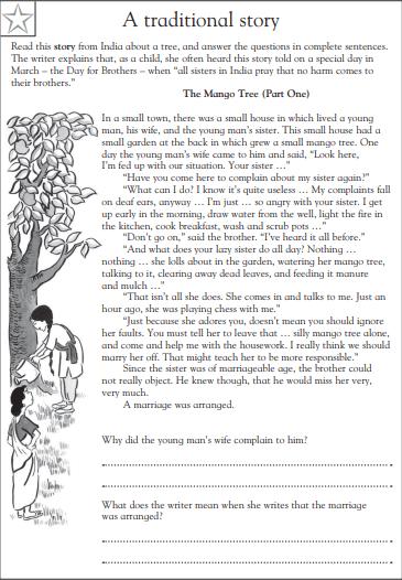 4th grade reading comprehension worksheets pdf 4