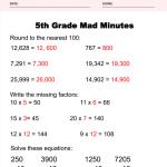 5th Grade Math Worksheets Answer Key 2
