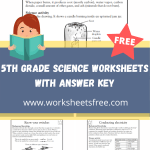 5th grade science worksheets with answer key