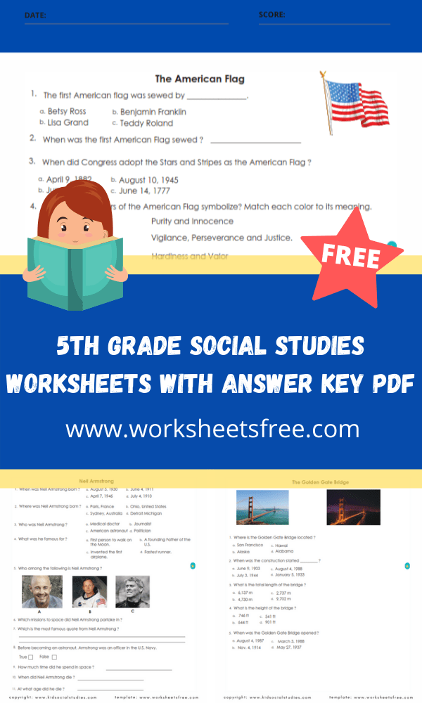 5th grade social studies worksheets with answer key pdf