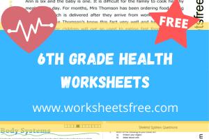 6th grade health worksheets