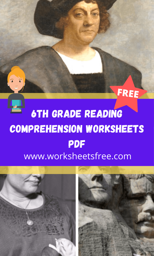 6th grade reading comprehension worksheets pdf