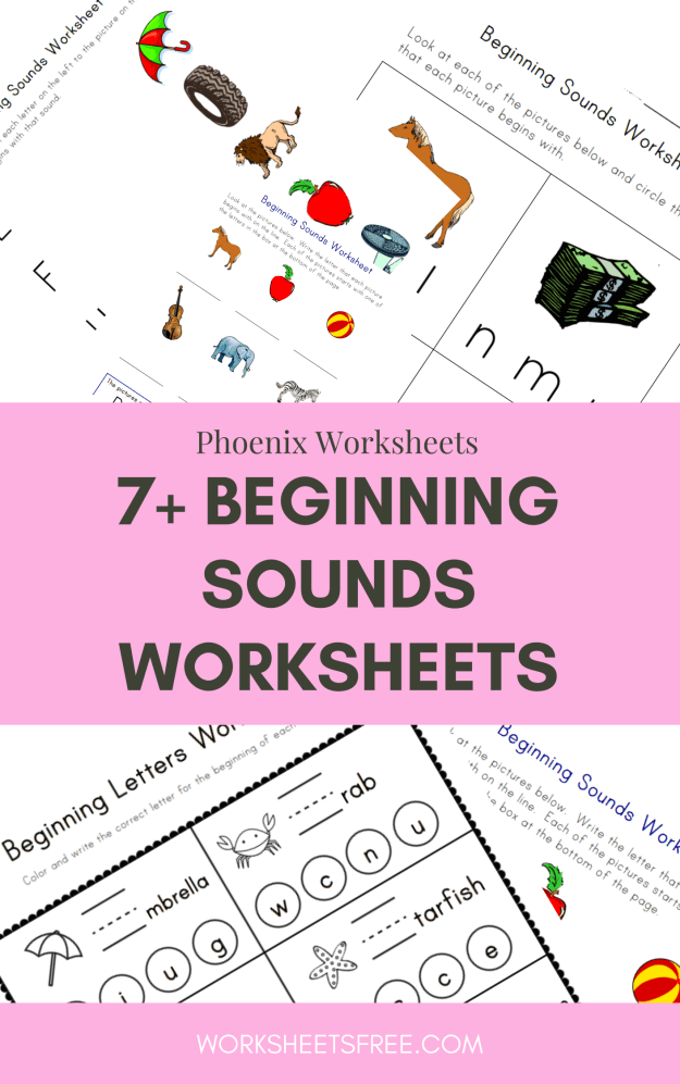 7+ Beginning Sounds Worksheets