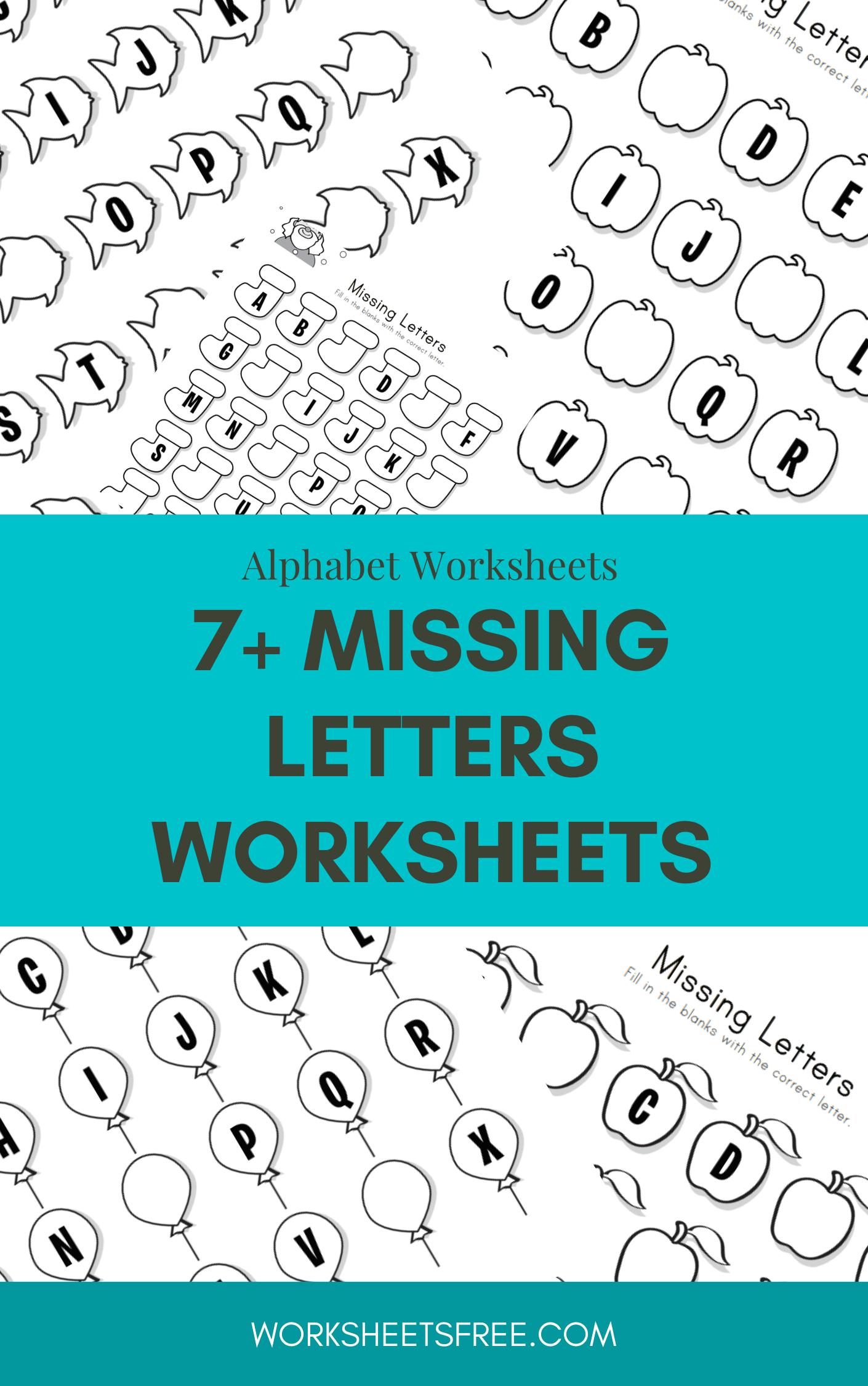 7 Missing Letters Worksheets