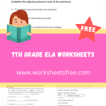 7th grade ela worksheets