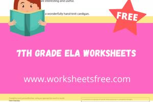 7th grade ela worksheets