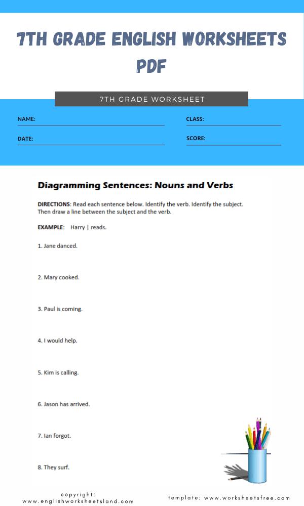7th grade english worksheets pdf 3