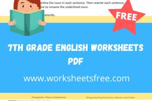 7th grade english worksheets pdf