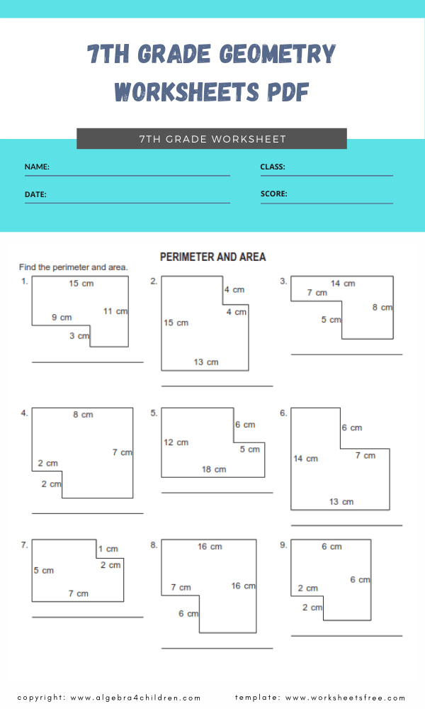 7th grade geometry worksheets pdf 2