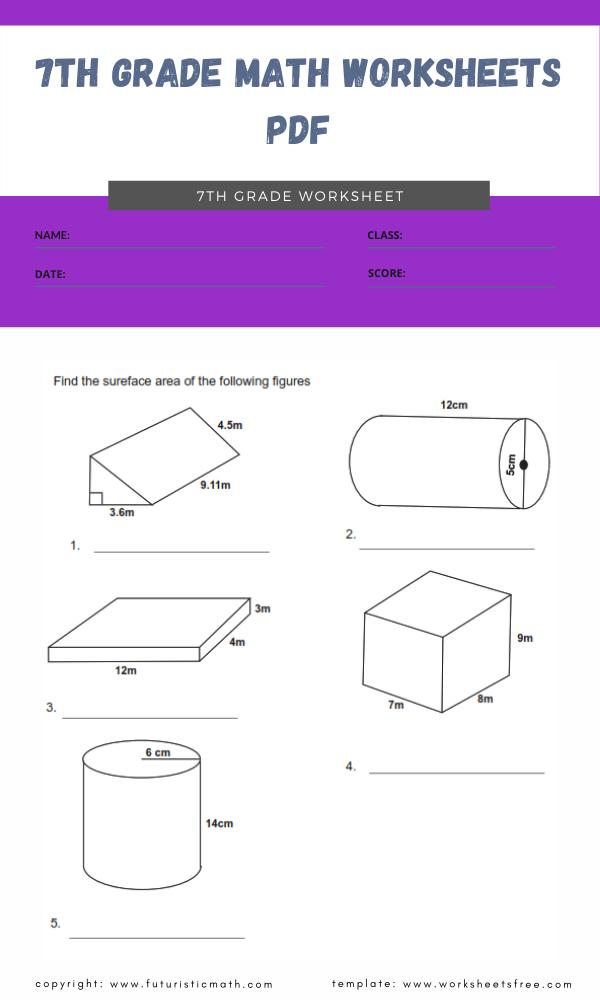 7th grade math worksheets pdf 2
