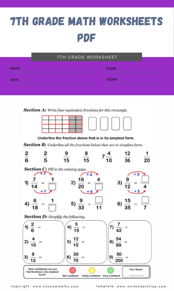 7th grade math worksheets pdf 3