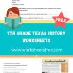 7th grade texas history worksheets