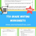 7th grade writing worksheets