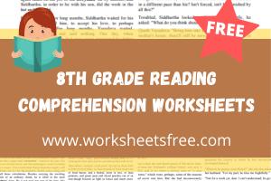 8th grade reading comprehension worksheets