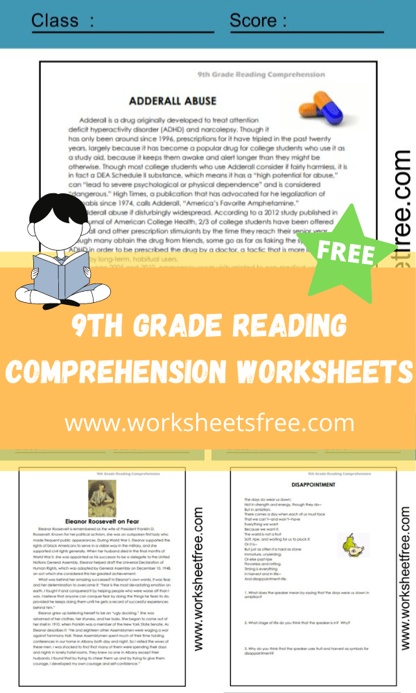 9th Grade | Worksheets Free