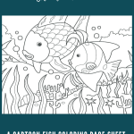 A Cartoon Fish Coloring Page Sheet - A lot of people are interested in taking the art of cartooning and making a living with it. Many people are interested in cartooning,