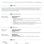 Accounting Student Resume Sample 1