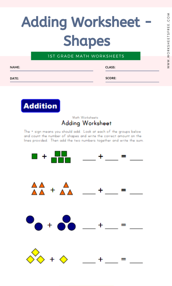 Adding Worksheet - Shapes