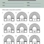 Before and After Number Worksheets 3