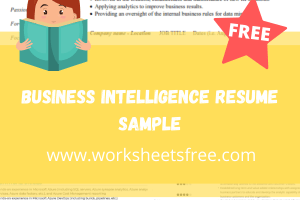 Business Intelligence Resume Sample