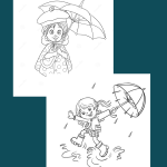 Cartoon Umbrella Coloring Pages - If you are looking for something that can add a bit of fun to your child's next birthday party, you might want to consider coloring in a few balloons and cartoon umbrella backgrounds