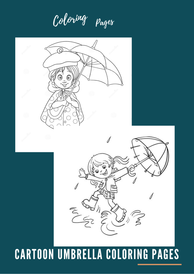 Cartoon Umbrella Coloring Pages