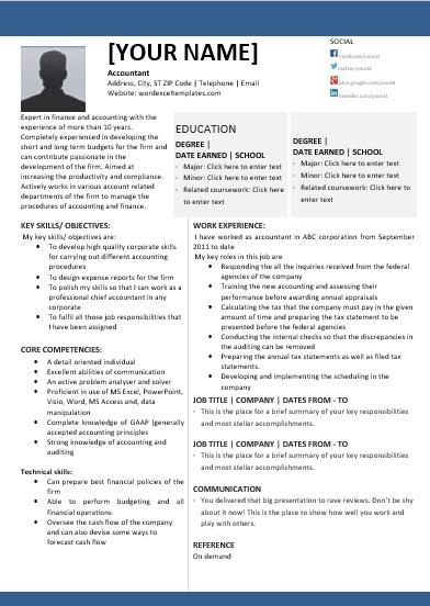 Chief Accountant Resume Sample 1