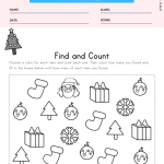 Christmas Find and Count Worksheet