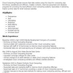 Cloud Computing Resume Sample 4