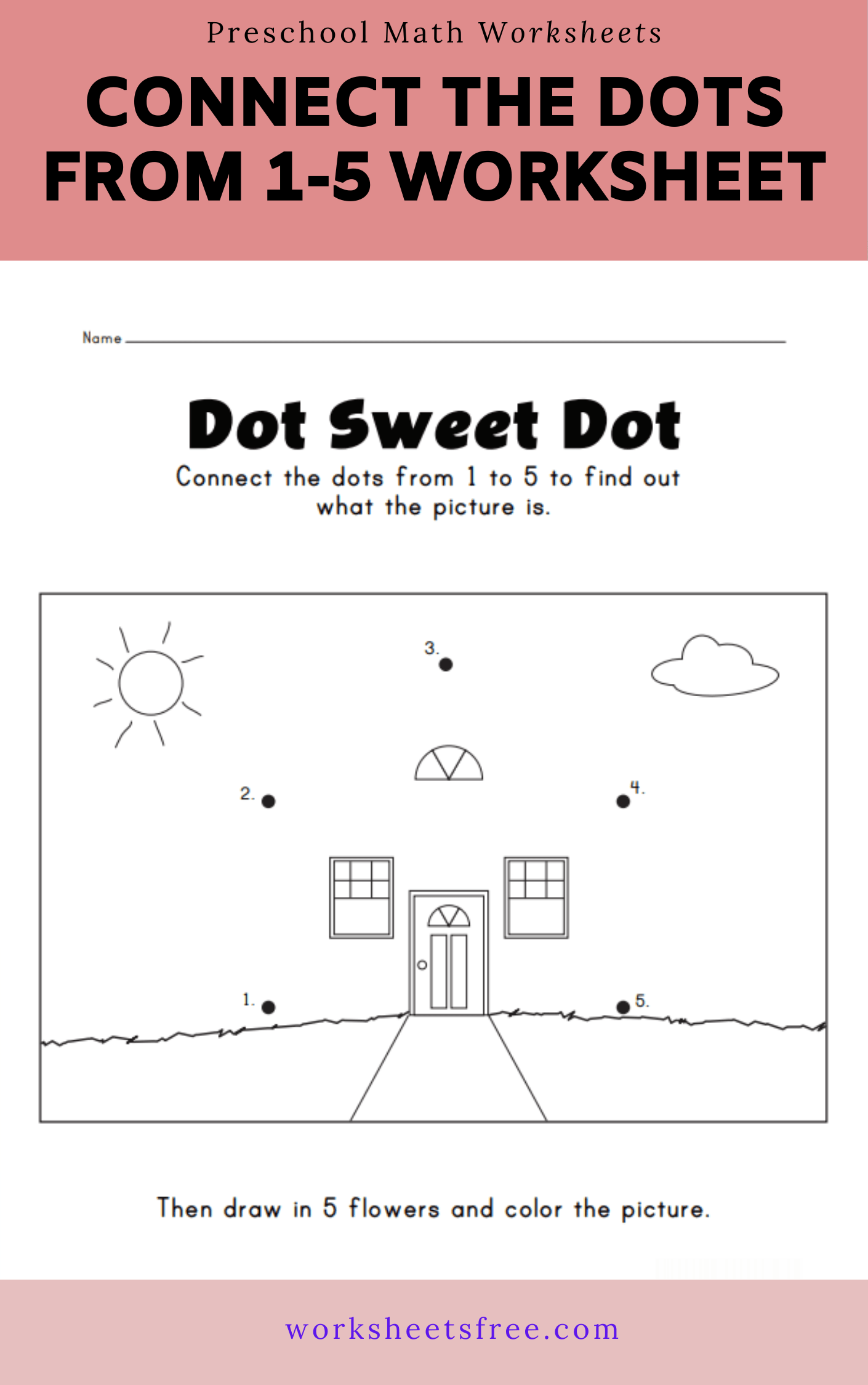 Connect The Dots From 1 5 Worksheet