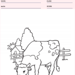 Cow Coloring Page - Animal Coloring Pages Worksheets