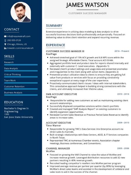 Customer Success Manager Resume 3