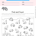 Dinosaur Find and Count Worksheet