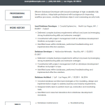 EDC Database Developer Resume Sample 5