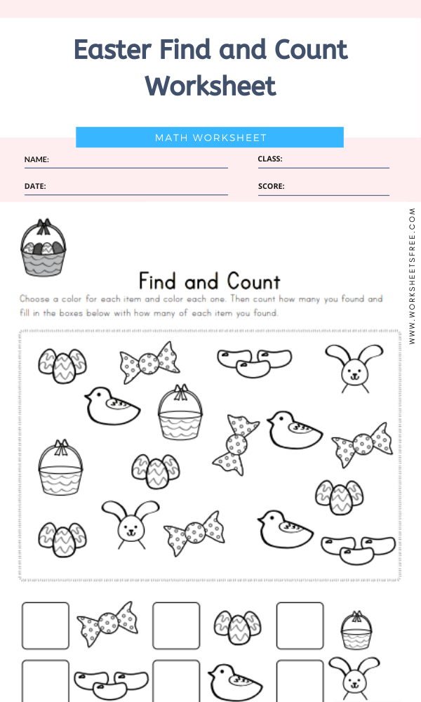 Easter Find and Count Worksheet