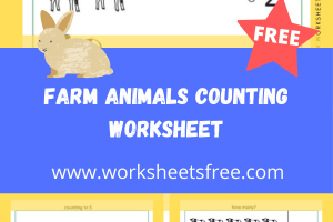 Farm Animals Counting Worksheet