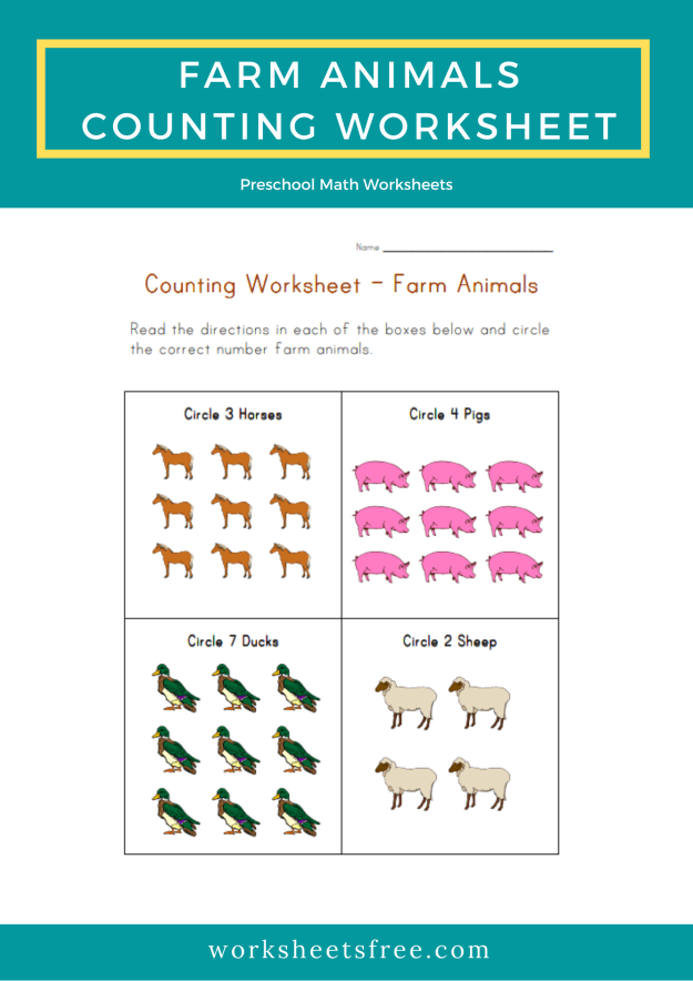 Farm-Animals-Counting-Worksheet