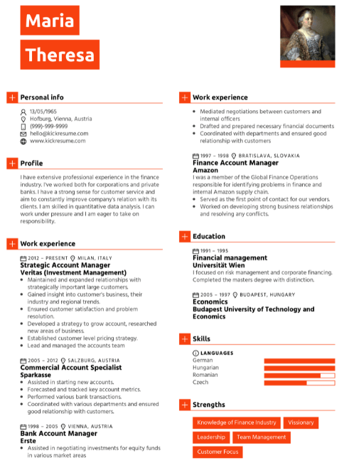 Finance Manager Resume Sample 3