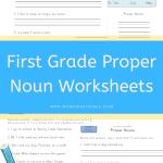 First Grade Proper Noun Worksheets