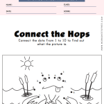 Frog connect the dots numbers 1 - 10 worksheet