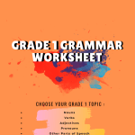 Grade 1 Grammar Worksheet